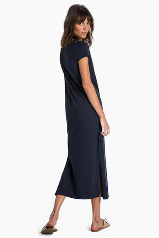 N:PHILANTHROPY Mandalay Dress - Dark Sapphire Dress | Dark Sapphire| N:PHILANTHROPY Mandalay Dress - Dark Sapphire. Features:  Maxi dress Cut-out detail Comfortable and on- trend style Side slit Baby jersey fabrication Relaxed fit Back View