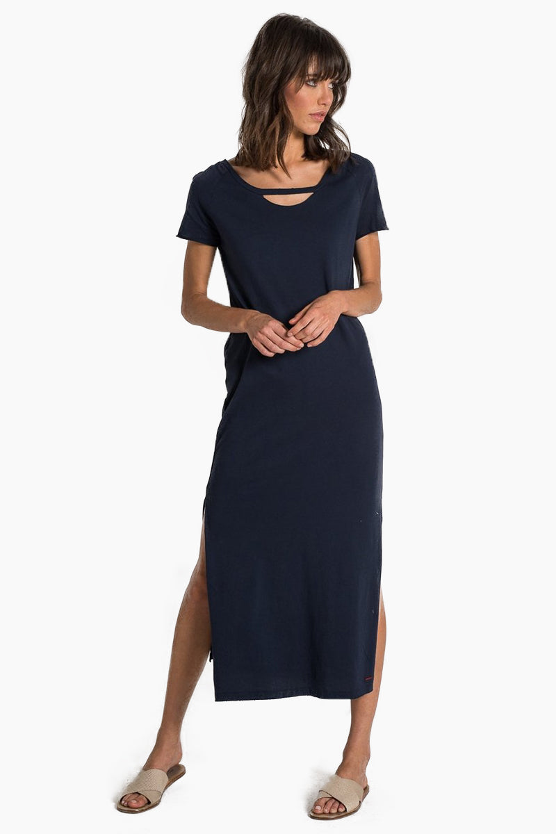 N:PHILANTHROPY Mandalay Dress - Dark Sapphire Dress | Dark Sapphire| N:PHILANTHROPY Mandalay Dress - Dark Sapphire. Features:  Maxi dress Cut-out detail Comfortable and on- trend style Side slit Baby jersey fabrication Relaxed fit Front View