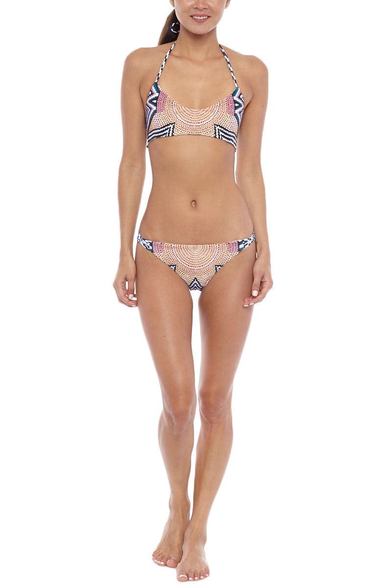 MARA HOFFMAN Bralette Reversible Bikini Top - Starbasket/White Bikini Top | Starbasket White| Mara Hoffman Basket Weave Reversible Bikini Top