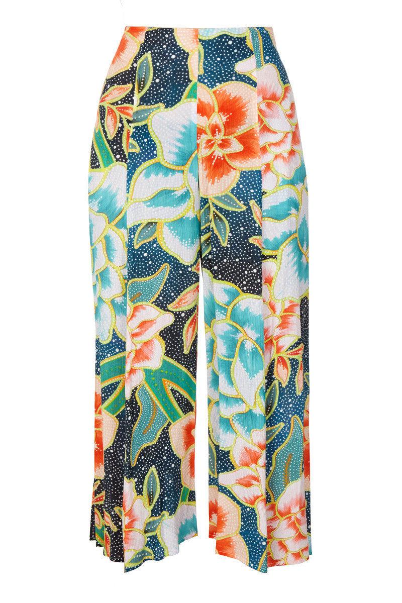MARA HOFFMAN Easy Cropped Culotte Pants - Arcadia Indigo Pants | Arcadia Indigo| Mara Hoffman Easy Cropped Culotte Pants - Arcadia Indigo