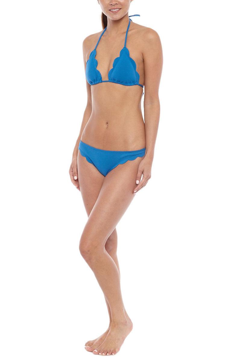 MARYSIA Broadway Moderate Bikini Bottom - Snorkel Blue Bikini Bottom | Snorkel Blue|Marysia Broadway Bikini Bottom