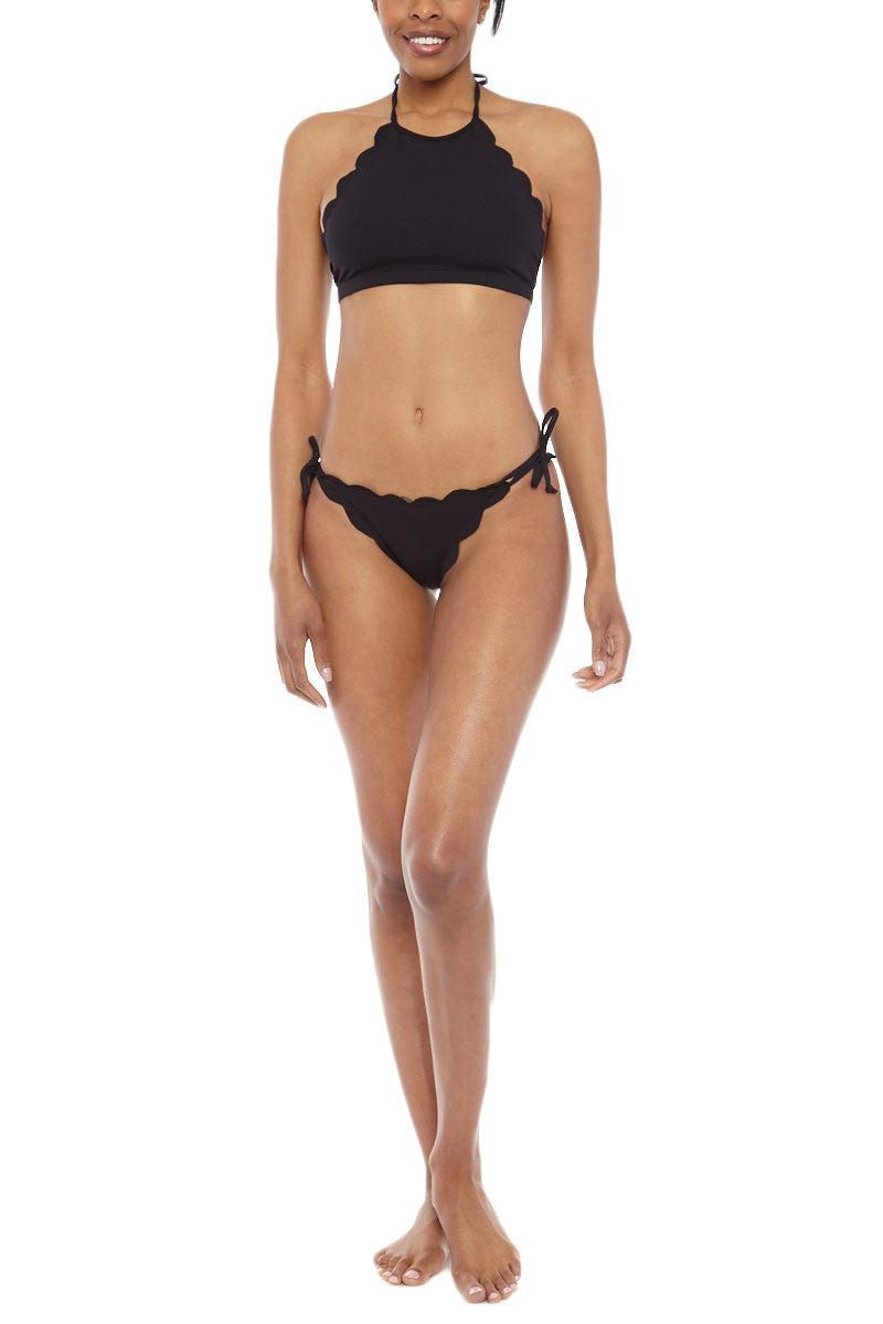 MARYSIA Mott Side Tie Bikini Bottom - Black Bikini Bottom | Black|Marysia Mott Bikini Bottom