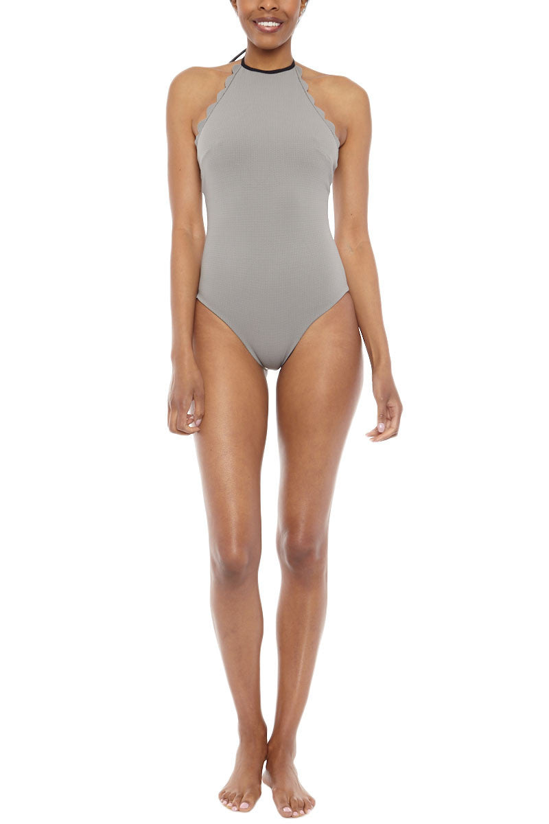 MARYSIA Mott High Neck Maillot One Piece Swimsuit - Black/Grey One Piece | Black/Grey|Marysia Mott Maillot Reversible One Piece