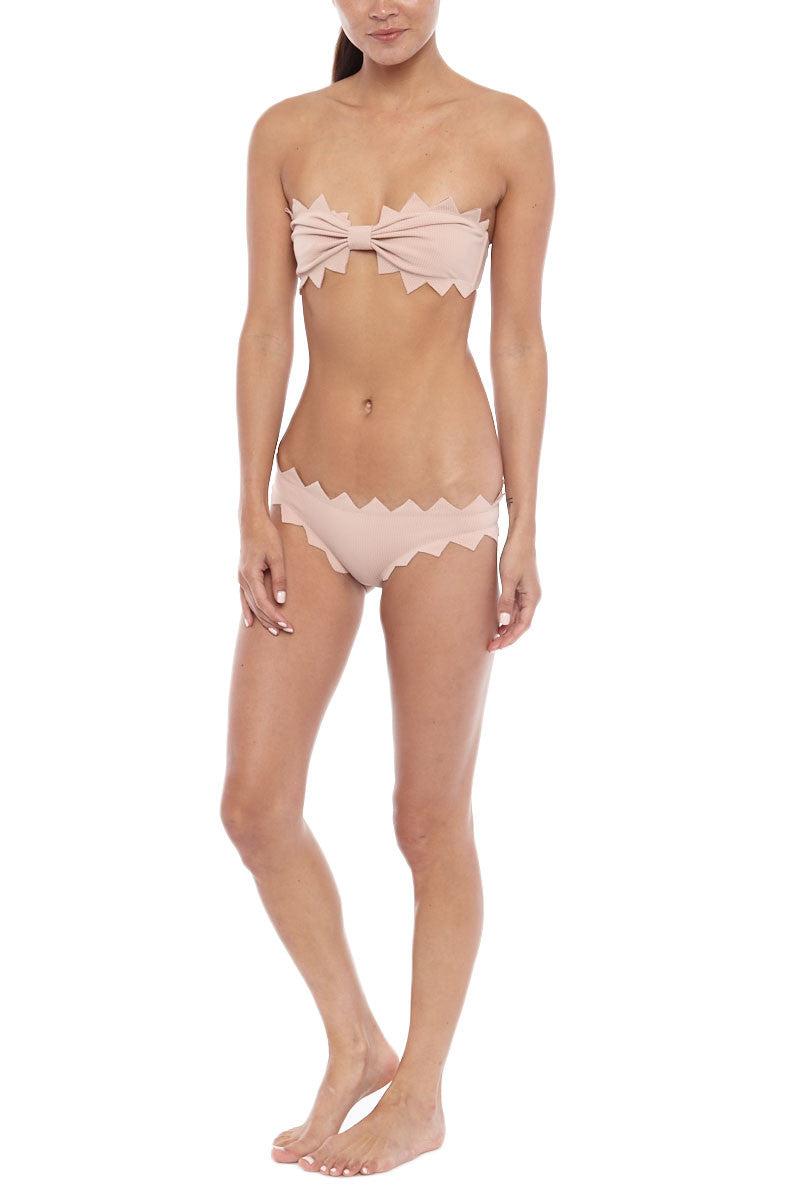 MARYSIA Honolulu Zig Zag Moderate Bikini Bottom - Tan Bikini Bottom   Tan Marysia Tan Honolulu Zig Zag Bottom