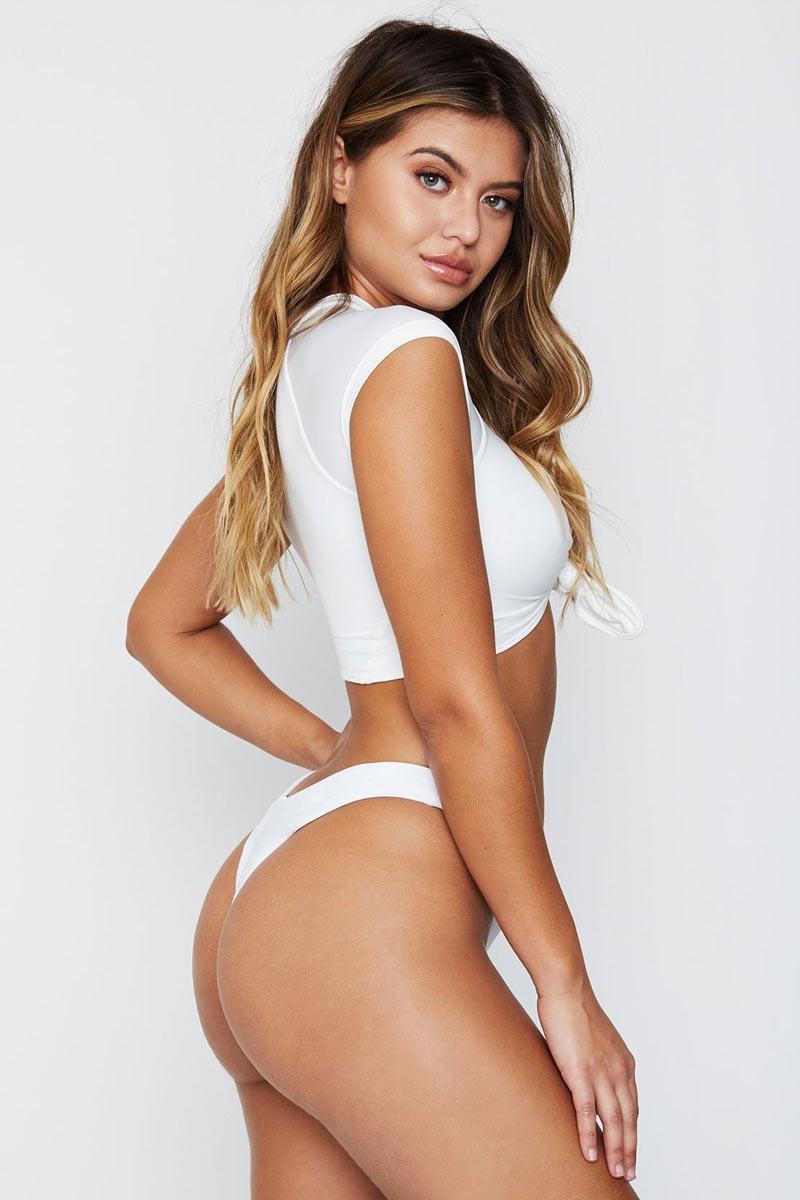 21d4d24748e63 ... FRANKIES BIKINIS Max High Cut Thong Bikini Bottom - White Bikini Bottom  | White|Frankies ...