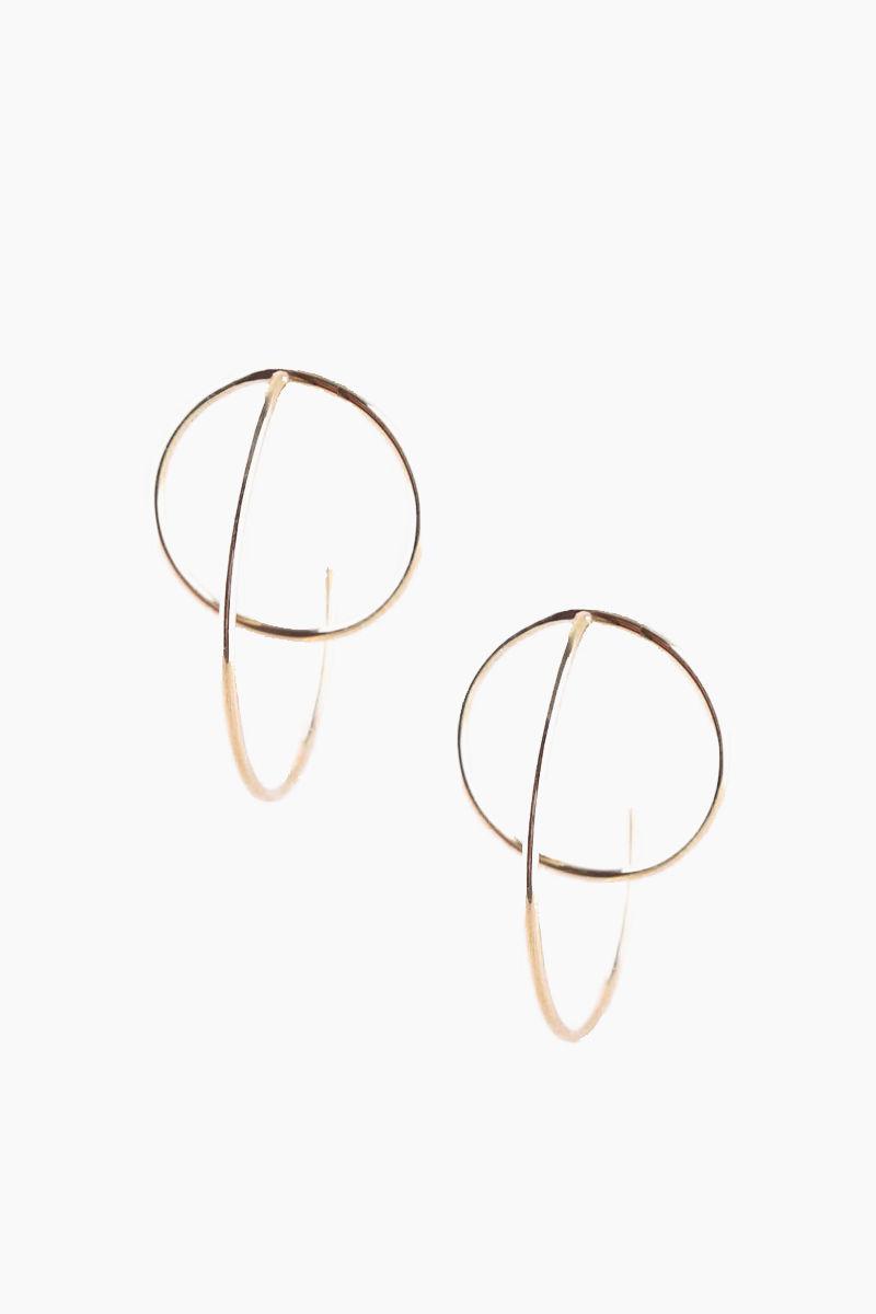 SOKO JEWELRY Maxi Globe Jackets Earrings - Brass Jewelry | Brass| Soko Jewelry Maxi Globe Jackets Earrings - Brass Features:   Jacket earrings Recycled polished brass Handcrafted in Kenya Front View