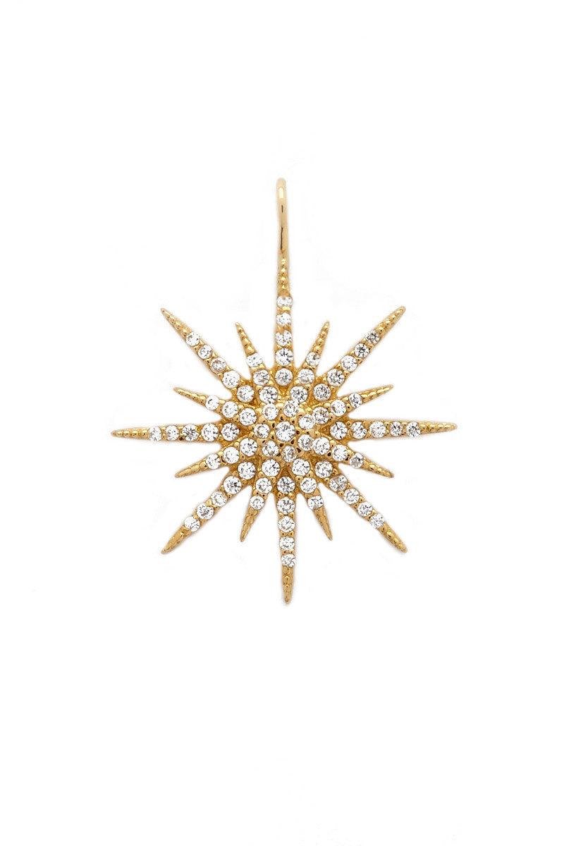 TALIA NAOMI Maxi Supernova Pendant Jewelry | Gold| Talia Naomi Maxi Supernova Pendant