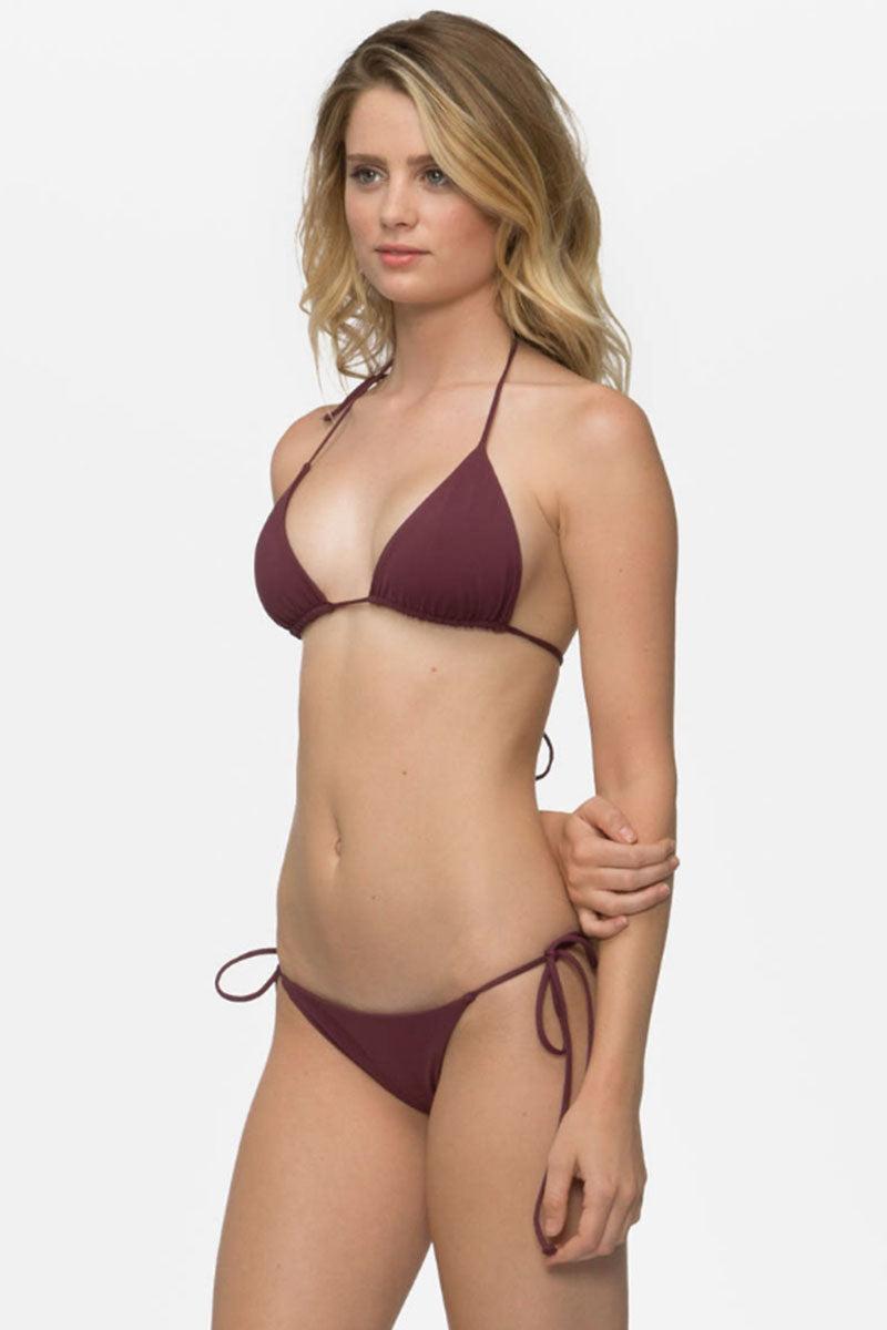 TAVIK Jax Tie Side Bikini Bottom - Merlot Bikini Bottom | Merlot| TAVIK Jax Tie Side Bikini Bottom