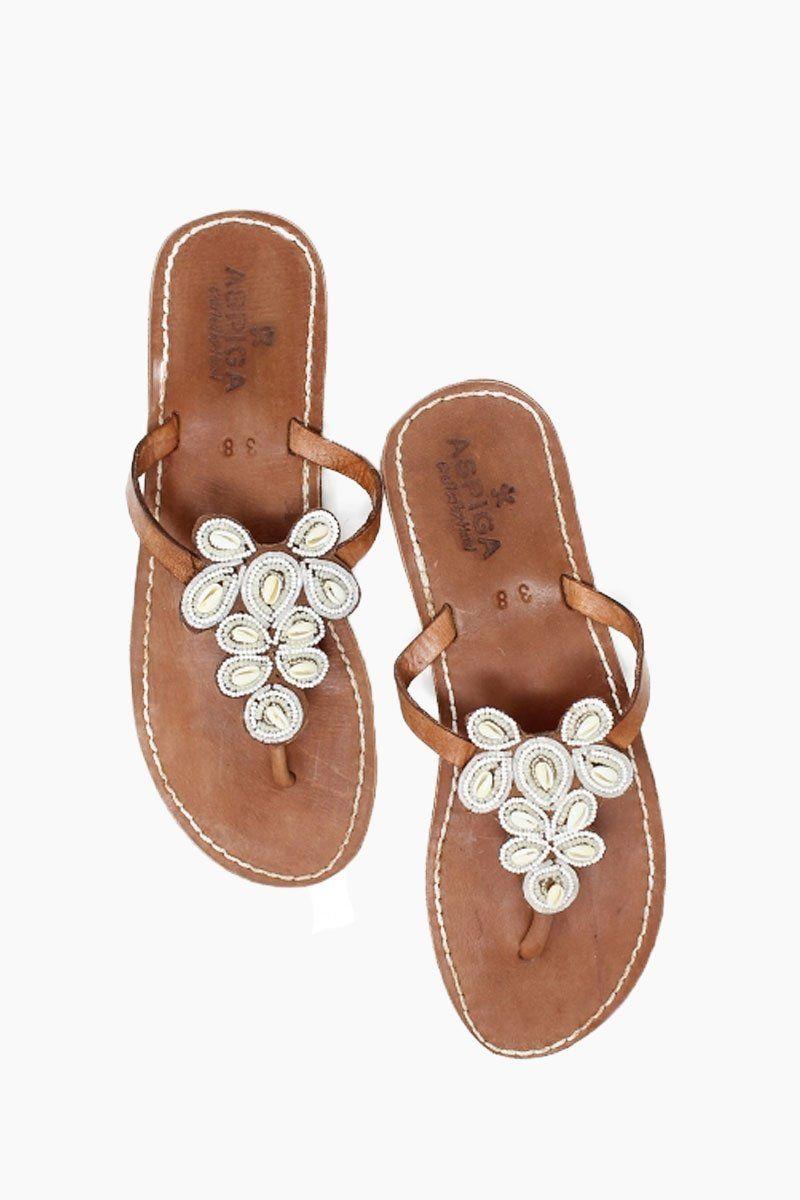 88a697158d9 ASPIGA Mia Sandals - White W  Shells