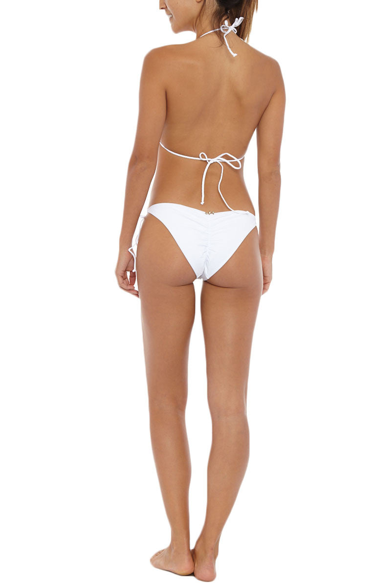 MIA MARCELLE String Bottom Bikini Bottom | White| Mia Marcelle String Bikini Bottom