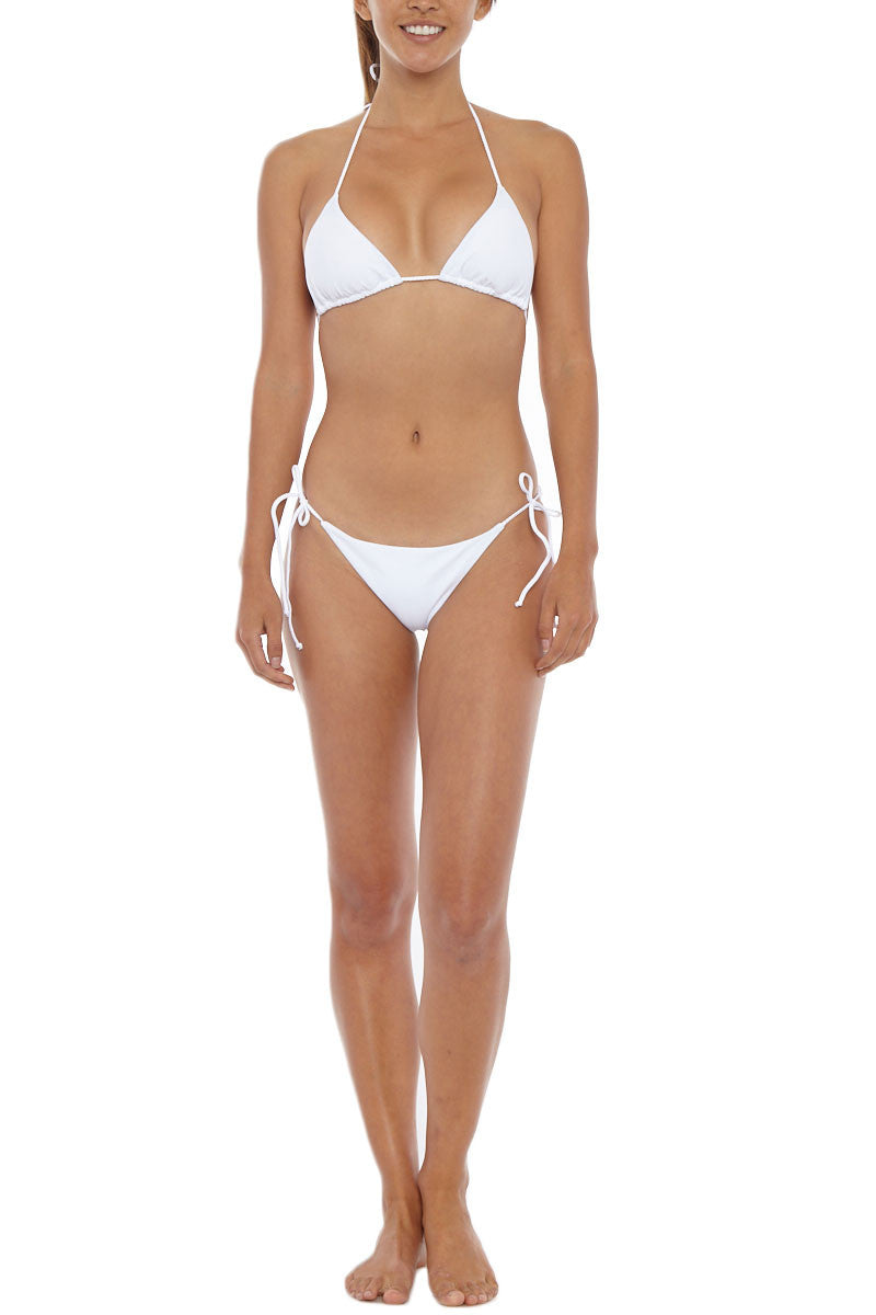 MIA MARCELLE Triangle Top Bikini Top | White| Mia Marcelle Triangle Bikini Top