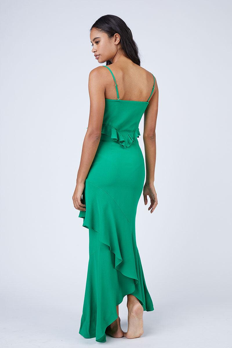 76a57d5ce8b ... FLYNN SKYE Michelle Cut Out Knot Front Maxi Dress - Jolly Green Dress