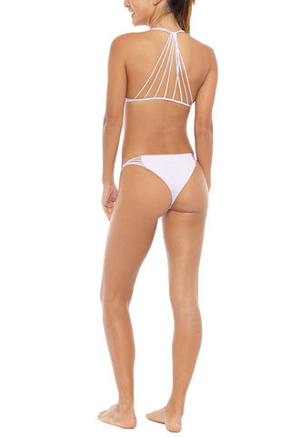 MIKOH Lanai Strappy Cheeky Bikini Bottom - Taro Purple Bikini Bottom | Taro Purple|Mikoh Lanai Strappy Cheeky Bikini Bottom - Taro Purple Cheeky coverage Multiple side straps Light double lining 95% Nylon, 5% Spandex Back View