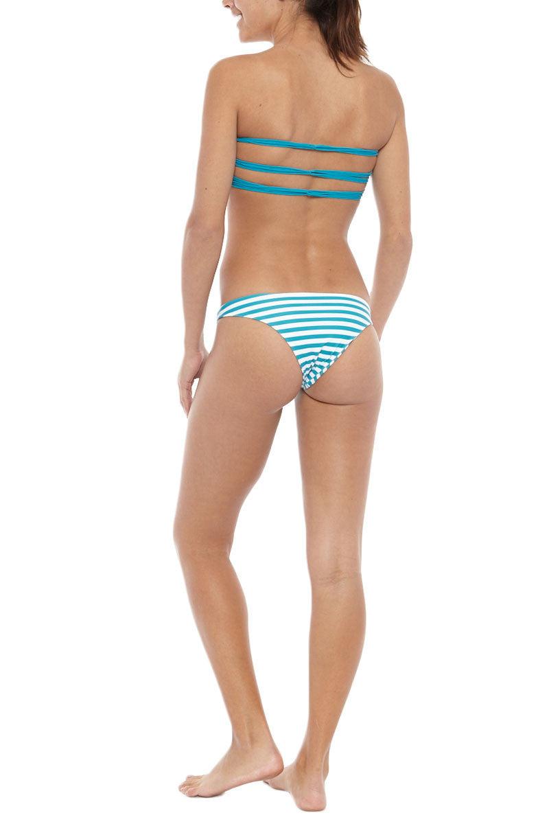 MIKOH Miyako Minimal Bikini Bottom - Bone Bikini Bottom   Caribbean Swell Lines  Mikoh Miyako Bikini Bottom