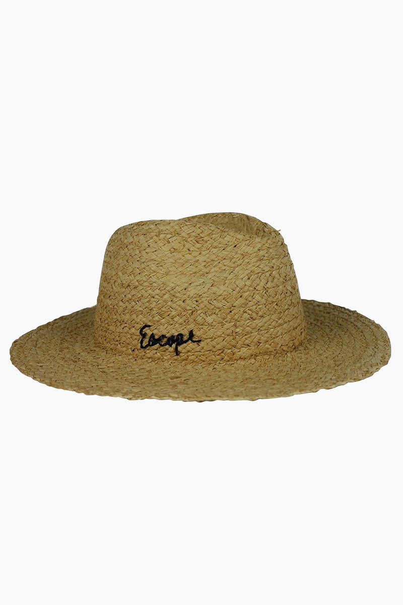"""HAT ATTACK Straw Mini Motto Rancher Hat - Escape Hat 