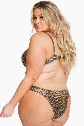 ALPINE BUTTERFLY Monaco Cheeky Bikini Bottom (Curves) - Leopard Bikini Bottom | Leopard| Alpine Butterfly Monaco Cheeky Bikini Bottom (Curves) - Leopard  Features:  90's- inspired High-rise fit Curve-hugging swim bottoms Back View