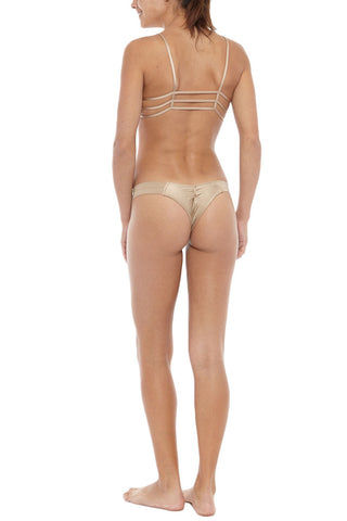MONTCE SWIM Cage Strappy Cut Out Bikini Top - Dark Sand Brown Bikini Top | Dark Sand Brown| Montce Swim Cage Strappy Cut Out Bikini Top - Dark Sand Brown. Features: strappy front cut outs. Front boning for support.Back View