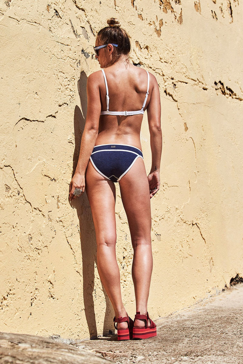 DUSKII Monte Carlo Moderate Bikini Bottom - Indigo/White Bikini Bottom | Indigo/White| Duskii Monte Carlo Pant