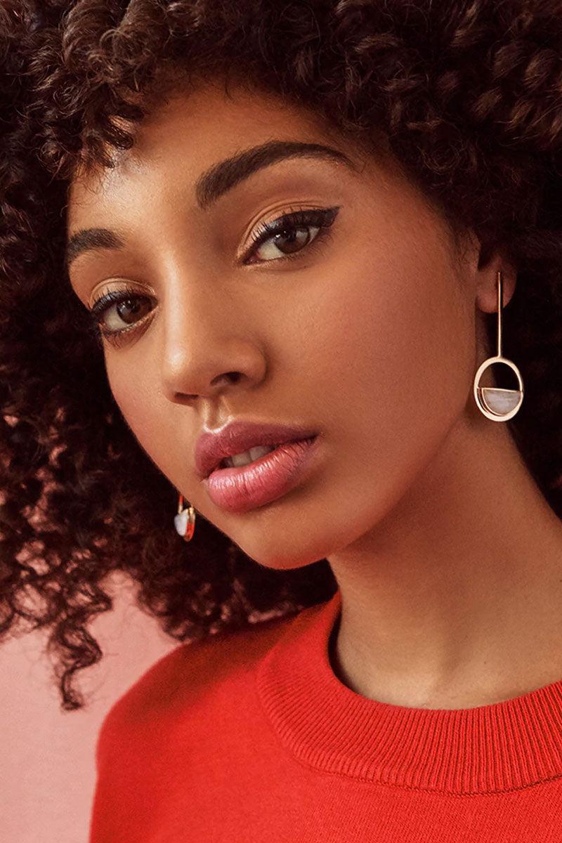 ELIZABETH STONE Moon Gazer Drop Earrings - Moonstone Jewelry   Moonstone  ELIZABETH STONE Moon Gazer Drop Earrings