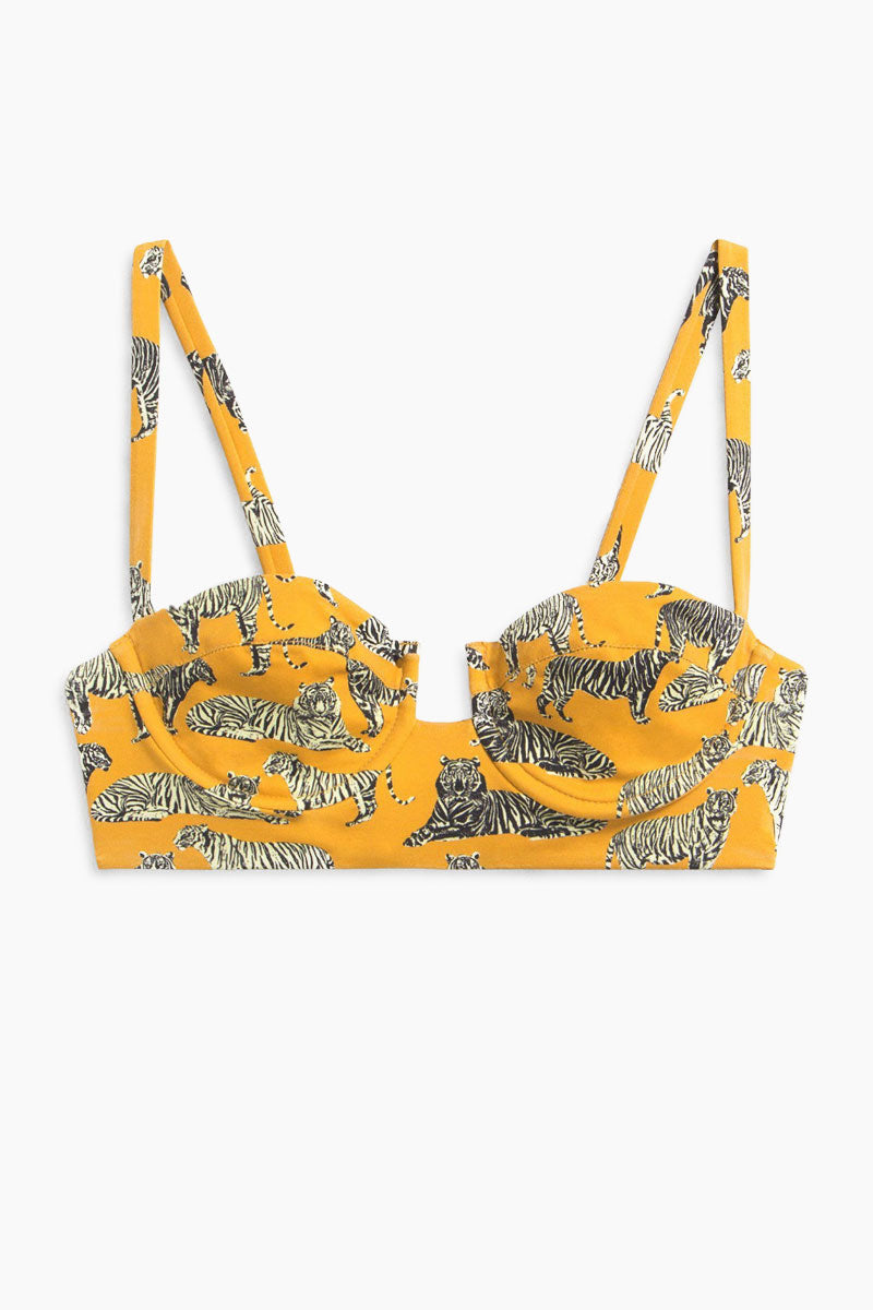 BOYS + ARROWS Norris Bikini Top - Cat Bikini Top | Cat | Boys + Arrows Norris Bikini Top Front View