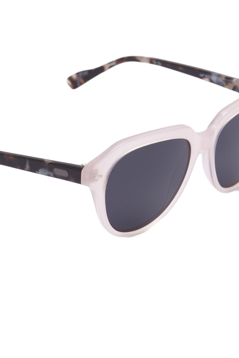 OCEAN Mavericks Sunglasses - Frosted Rose Pink Sunglasses   Frosted Rose Pink  Ocean Mavericks Sunglasses - Frosted Rose Pink Polarized Lens Made with lightweight material One size fits all Side View
