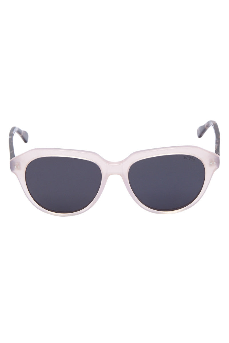 OCEAN Mavericks Sunglasses - Frosted Rose Pink Sunglasses   Frosted Rose Pink  Ocean Mavericks Sunglasses - Frosted Rose Pink Polarized Lens Made with lightweight material One size fits all Front View