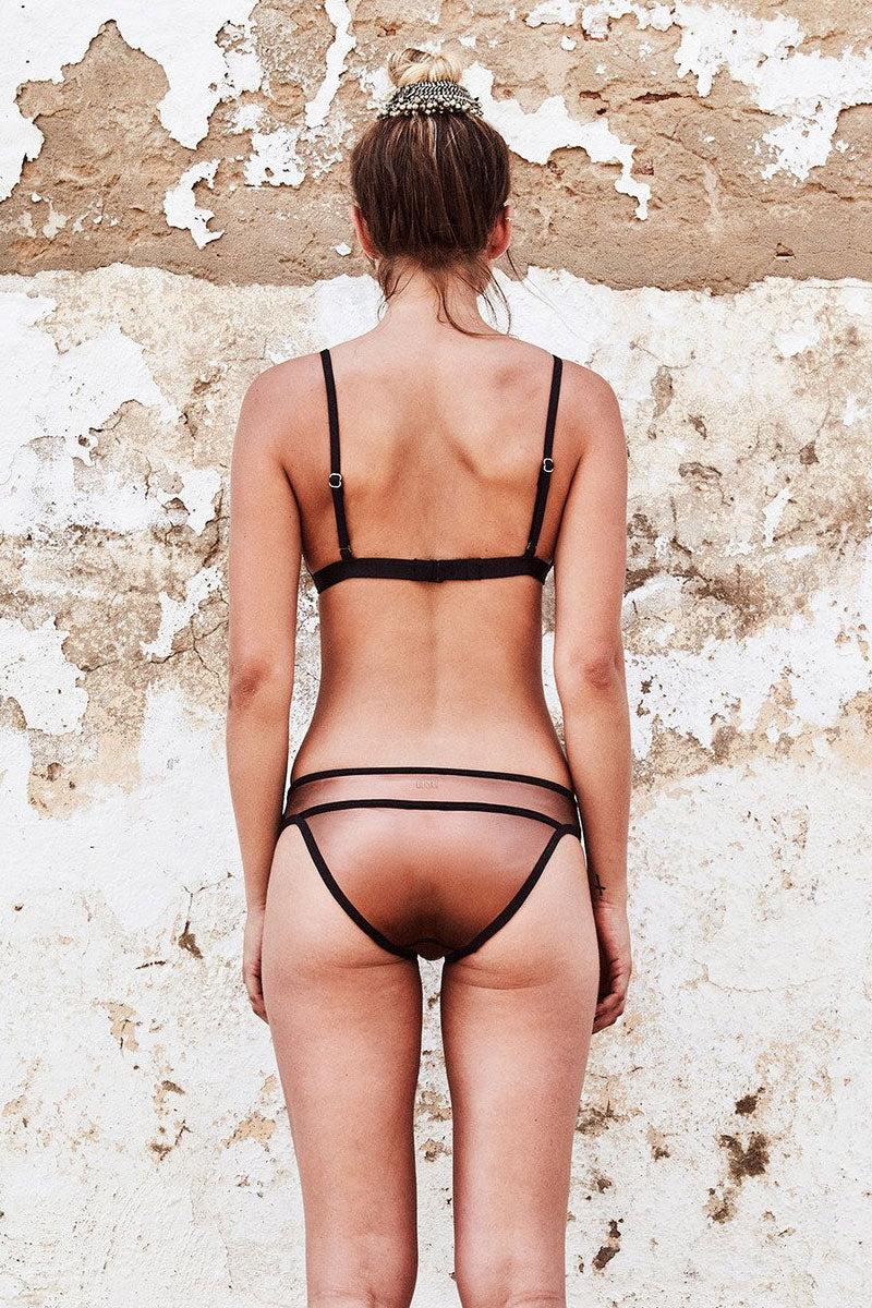 DUSKII Ochre Metallic Triangle Bikini Top - Amber Bikini Top | Amber| Duskii Ochre Tri Bikini Top