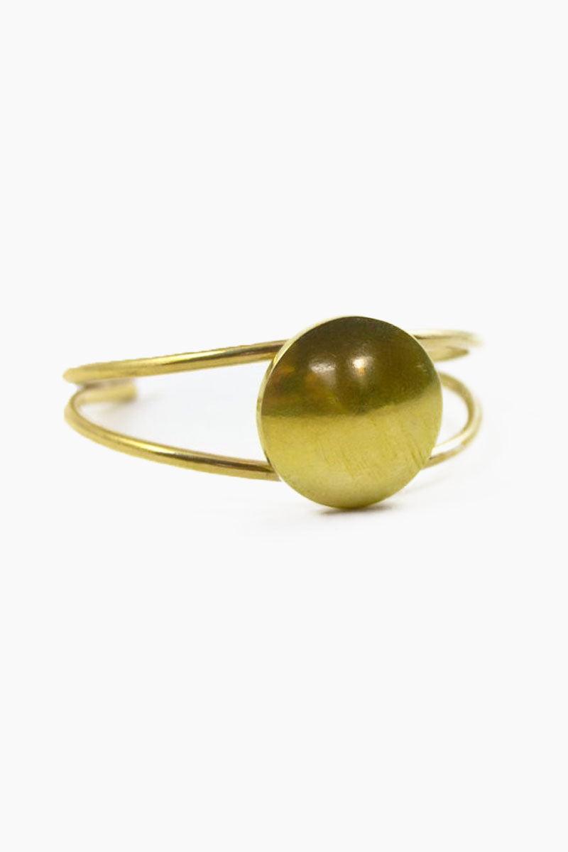 DEA DIA JEWELRY Orbital Cuff - Gold Jewelry | Orbital Cuff - Gold| Dea Dia Jewelry gold cuff double banded geometric