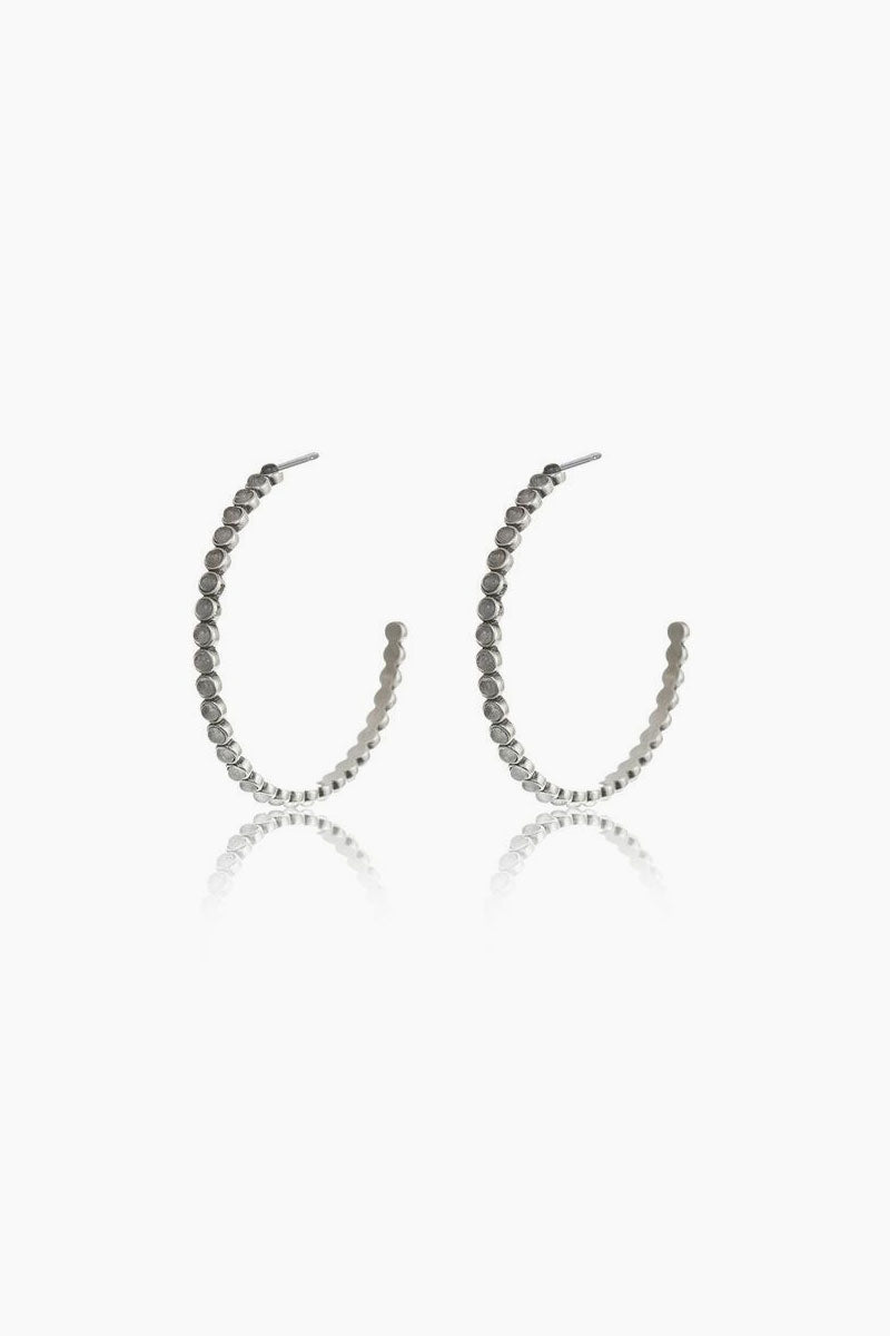 soleil luv silver aj earrings casimir tube products blue hoop in