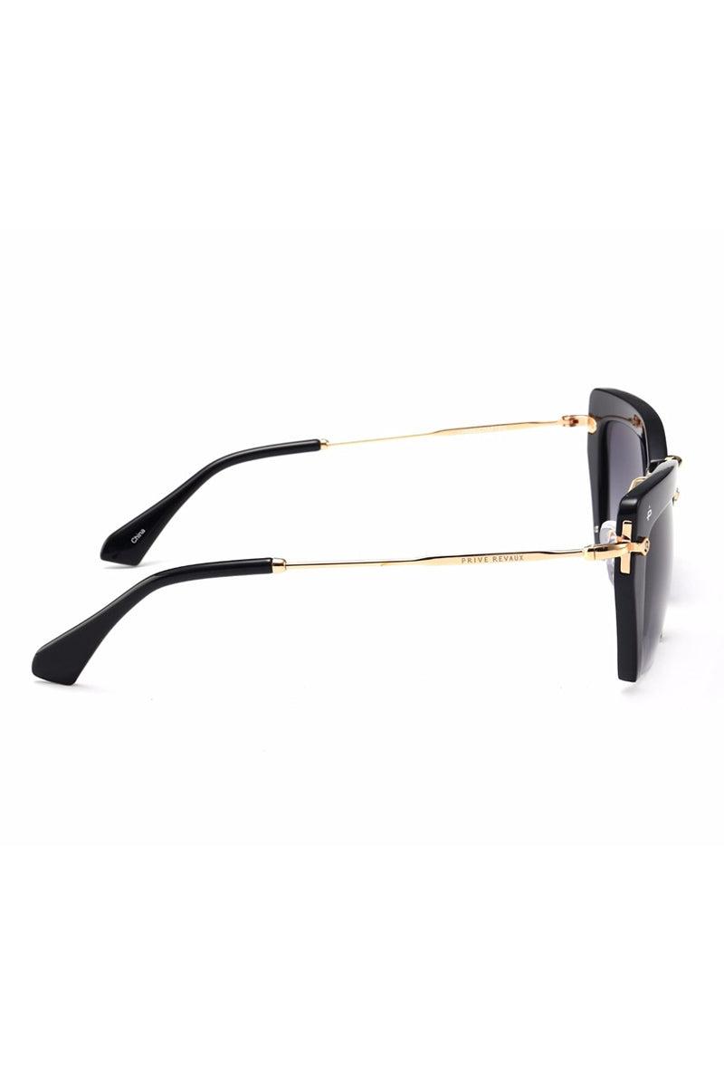 PRIVE REVAUX The Socialite Cut Off Cat-Eye Sunglasses - Black Sunglasses | Black| Prive Revaux The Socialite- Black