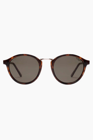 LE SPECS Paradox Sunglasses - Tort Sunglasses | Tort|Paradise - Le Specs Round Sunglasses Fine Plastic Frame  Frame:  Tort Lens: Khaki Mono Good UV protection Gender: Unisex Lens Width - Nose Bridge - Temple Length      50                   20                    150