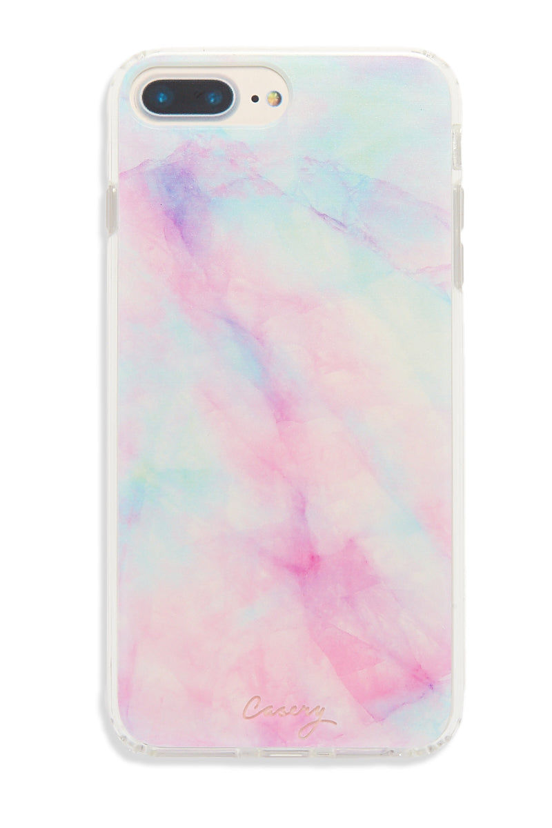 CASERY Iridescent Crystal iPhone 6s/7/8 Plus Case Phone Accessories | Iridescent Crystal| Casery Iridescent Crystal iPhone 6s/7/8 Plus Case Clear matte plastic iPhone 6 Plus/7 Plus/8 Plus case with rainbow holographic design. Made of top-quality German Bayor plastic with shock-absorbent rubber sides. Front View