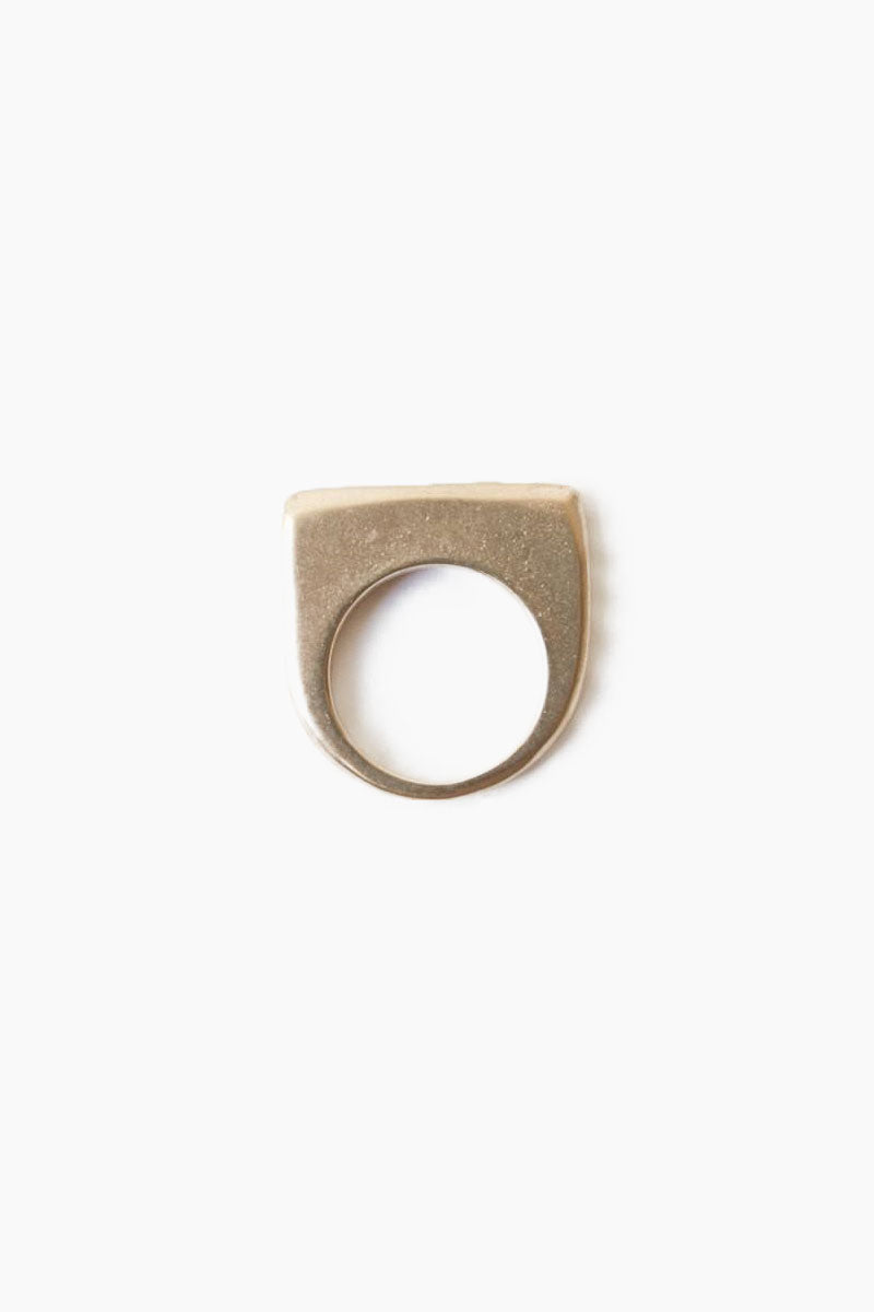 DEA DIA JEWELRY Plateau Ring - Bronze Jewelry | Plateau Ring - Bronze | Dea Dia Jewelry hand carved rings