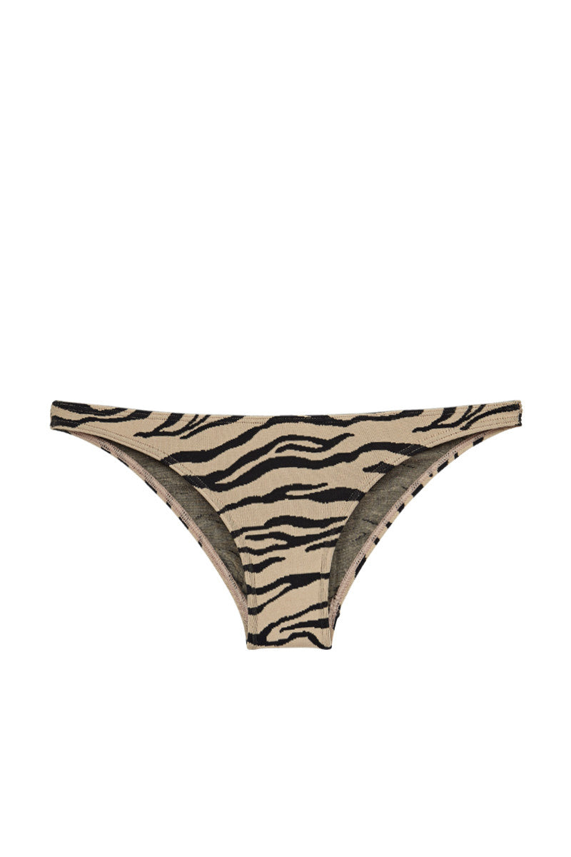 PRISM Punta Low Rise Bikini Bottom - Tiger Print Bikini Bottom | Tiger Print| Prism Punta Bikini Bottom Swatch View Full Coverage