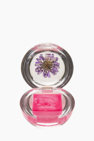 BLOSSOM Duo Lip Gloss Ball - Purple Flower Beauty | Purple Flower| Blossom Duo Lip Gloss Ball - Purple Flower Lip gloss clear ball  Goes on clear with purple tint  Fresh floral blossom Open View