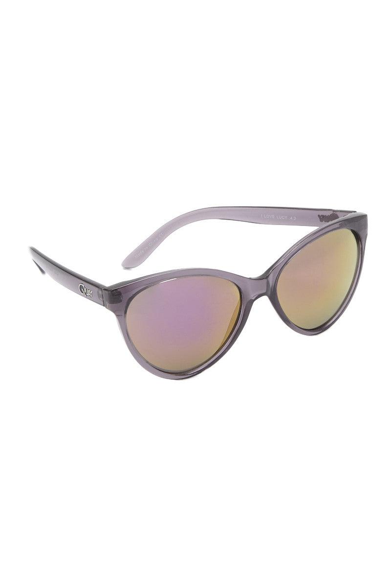 QUAY I Love Lucy Grey Sunglasses Sunglasses | Grey| Quay I Love Lucy