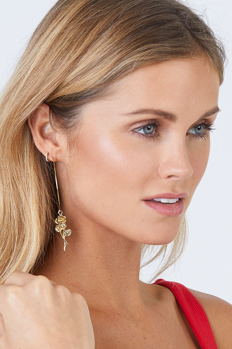 Luv Aj Rosette Hoop Earrings Gold Jewelry Hoops
