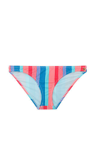 RAISINS Lowrider Hipster Bikini Bottom - Americano Stripe Print Bikini Bottom | Americano Stripe Print| Raisins Lowrider Hipster Bikini Bottom - Americano Stripe Print Hipster  Moderate Coverage. Front View