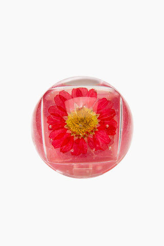 BLOSSOM Duo Lip Gloss Ball - Red Flower Beauty | Red Flower| Blossom Duo Lip Gloss Ball - Red Flower Lip gloss clear ball  Goes on clear with red tint  Fresh floral blossom Closed View