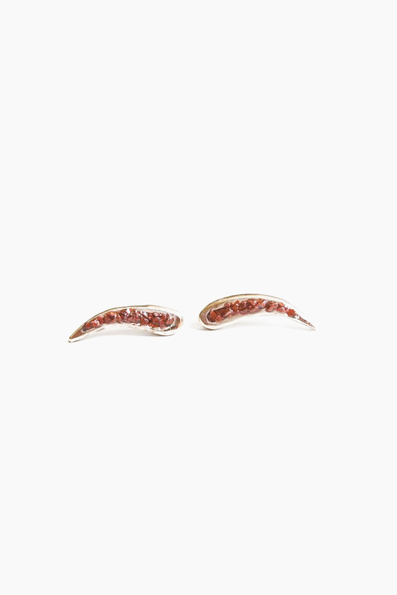 DEA DIA JEWELRY Rift Ear Climbers - Red Opal Jewelry   Rift Ear Climbers - Red Opal   dea dia jewelry