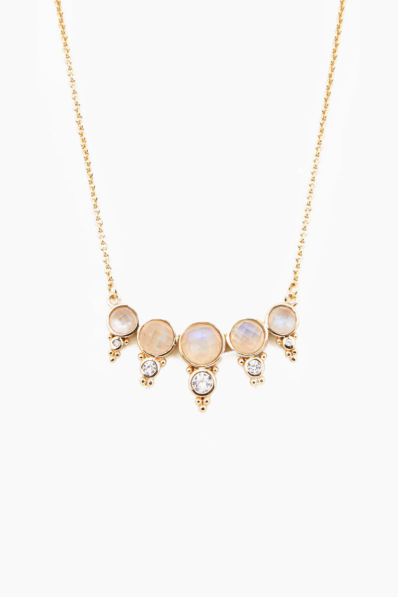 ELIZABETH STONE Royal Gemstone Necklace - Moonstone Jewelry | Moonstone| ELIZABETH STONE Royal Gemstone Necklace