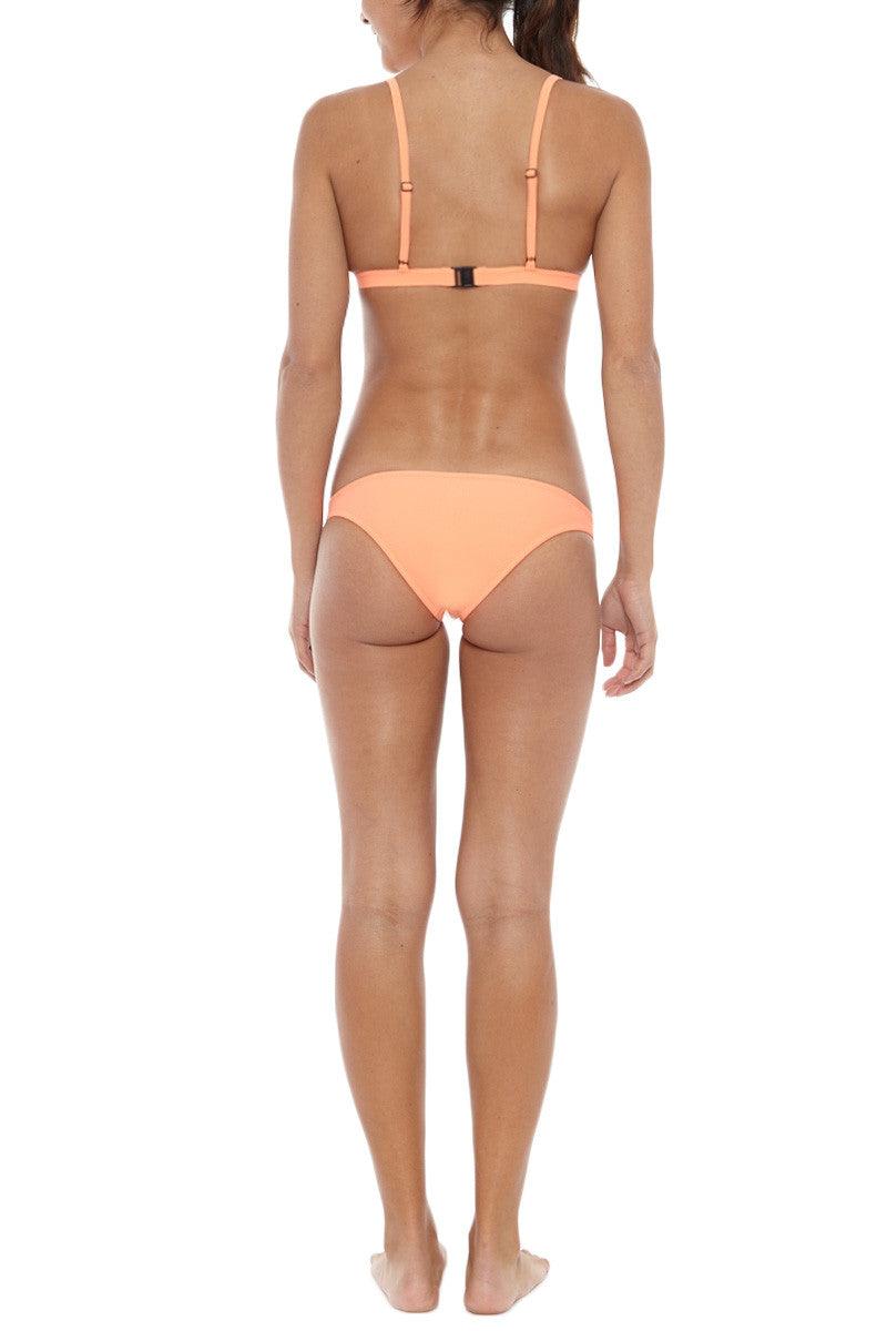 RUESS Pacific Low Rise Bikini Bottom - Sunset Orange Bikini Bottom | Sunset Orange| Ruess Pacific Low Rise Bikini Bottom - Sunset Orange Moderate coverage bottom Low rise Curved sides  1MM soft neoprene