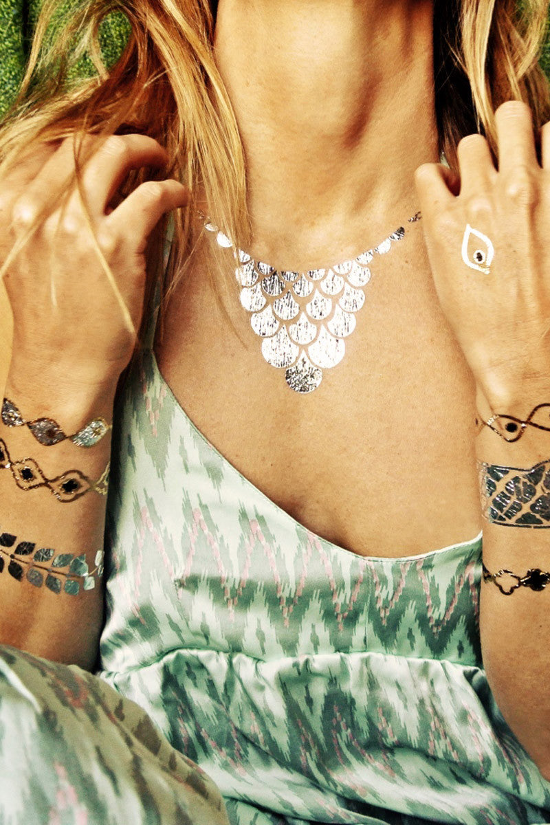 FLASH TATTOOS Sofia Set Accessories | Metallic| Flash Tattoos Gypsy-themed temporary metallic jewelry tattoos.