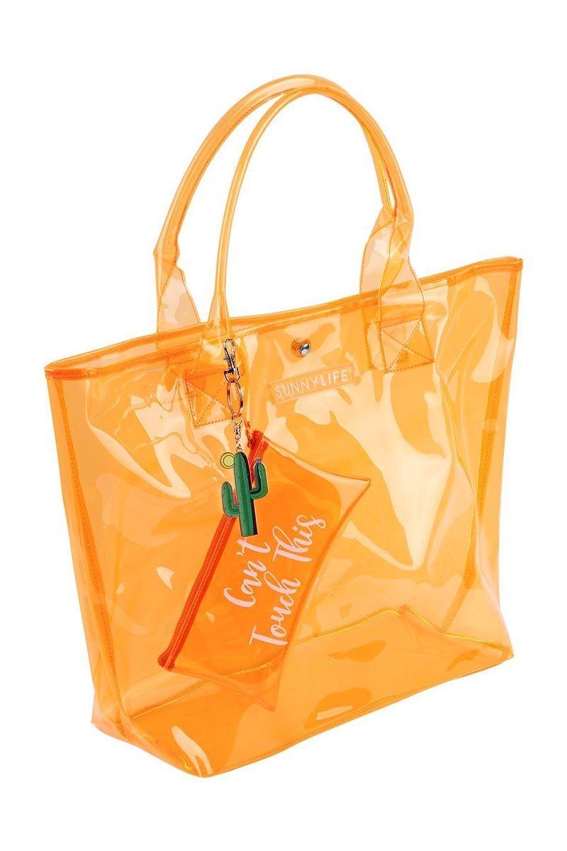 81b7360c44 ... SUNNYLIFE Market Bag - Neon Orange Bag