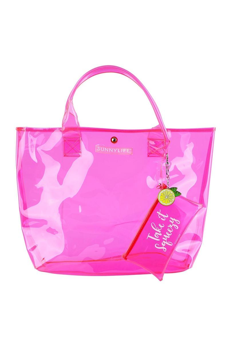 """SUNNYLIFE Market Bag - Neon Pink Bag 