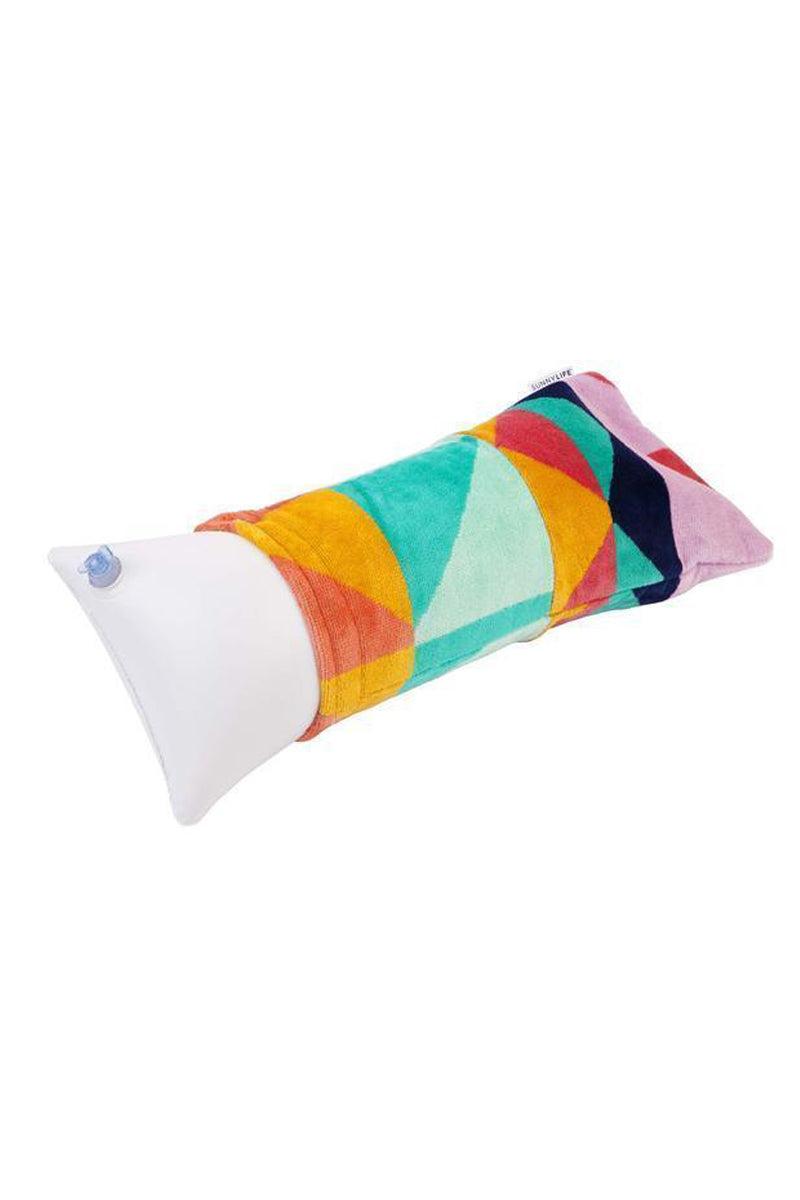 SUNNYLIFE Beach Pillow - Tangalle Pillow | Tangalle| Sunnylife Beach Pillow - Tangalle Side View
