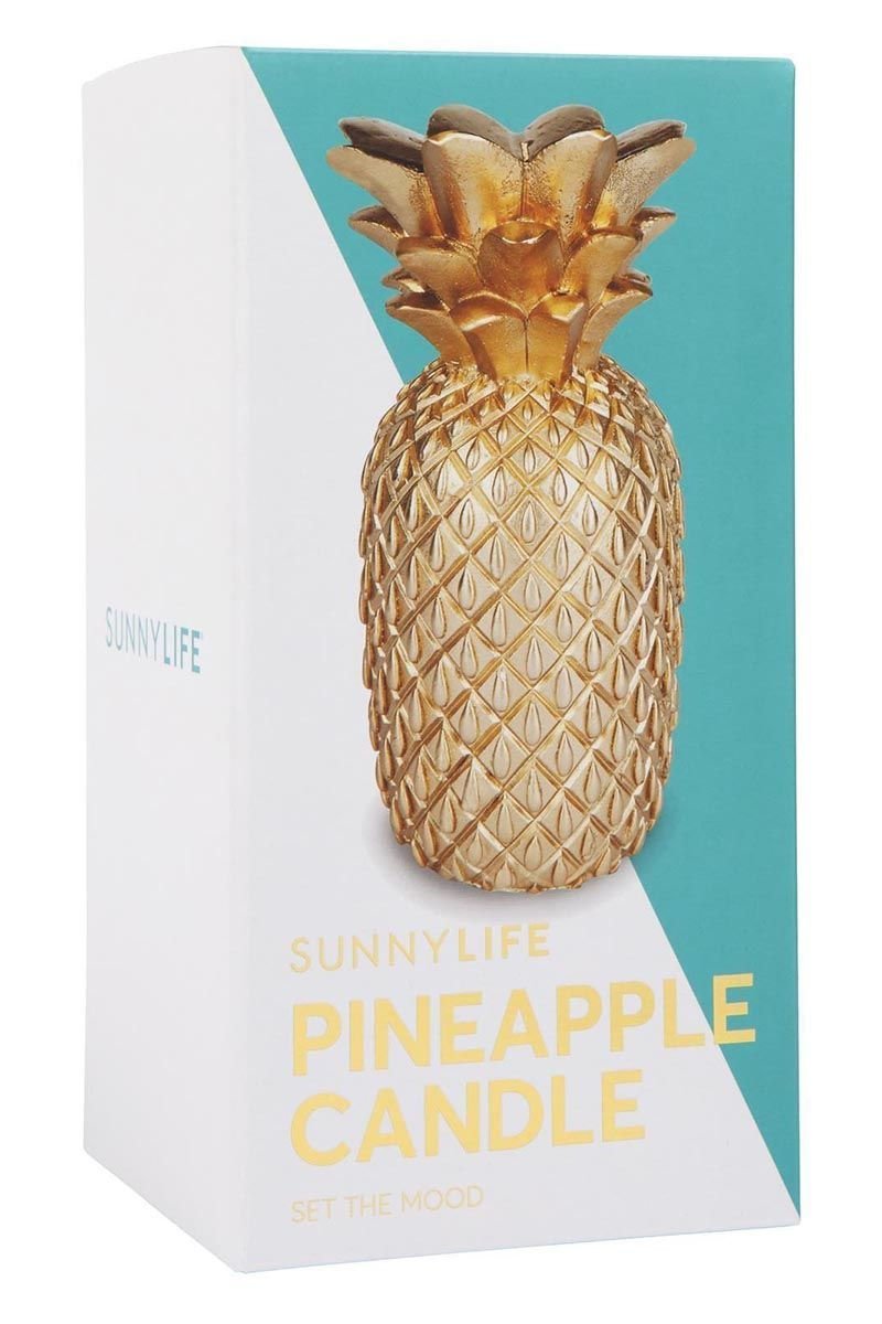 SUNNYLIFE Gold Pineapple Candle Large Home | Sunnylife Gold Pineapple Candle Large