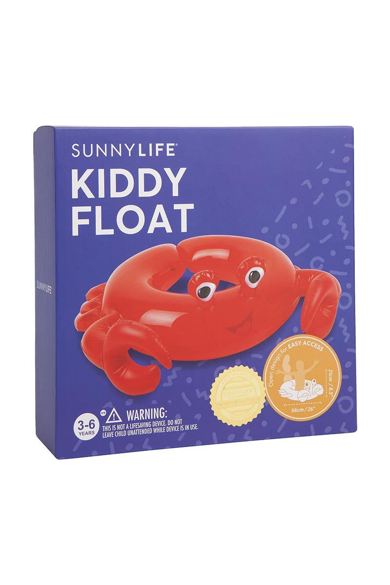 SUNNYLIFE Kiddy Float - Crabby Pool Accessories | Crabby| Sunnylife Kiddy Float - Crabby Box View