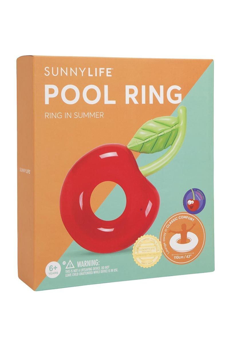 SUNNYLIFE Pool Ring - Cherry Pool Accessories | Cherry| Sunnylife Pool Ring - Cherry Box View