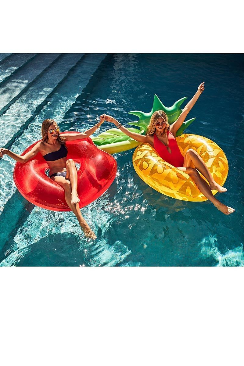 SUNNYLIFE Pool Ring - Cherry Pool Accessories | Cherry| Sunnylife Pool Ring - Cherry Lifestyle View